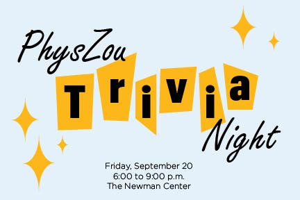 Graphic for PhysZou Trivia Night