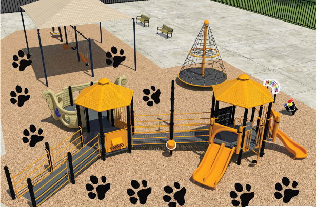 Photo Rendering of Inclusive Playground