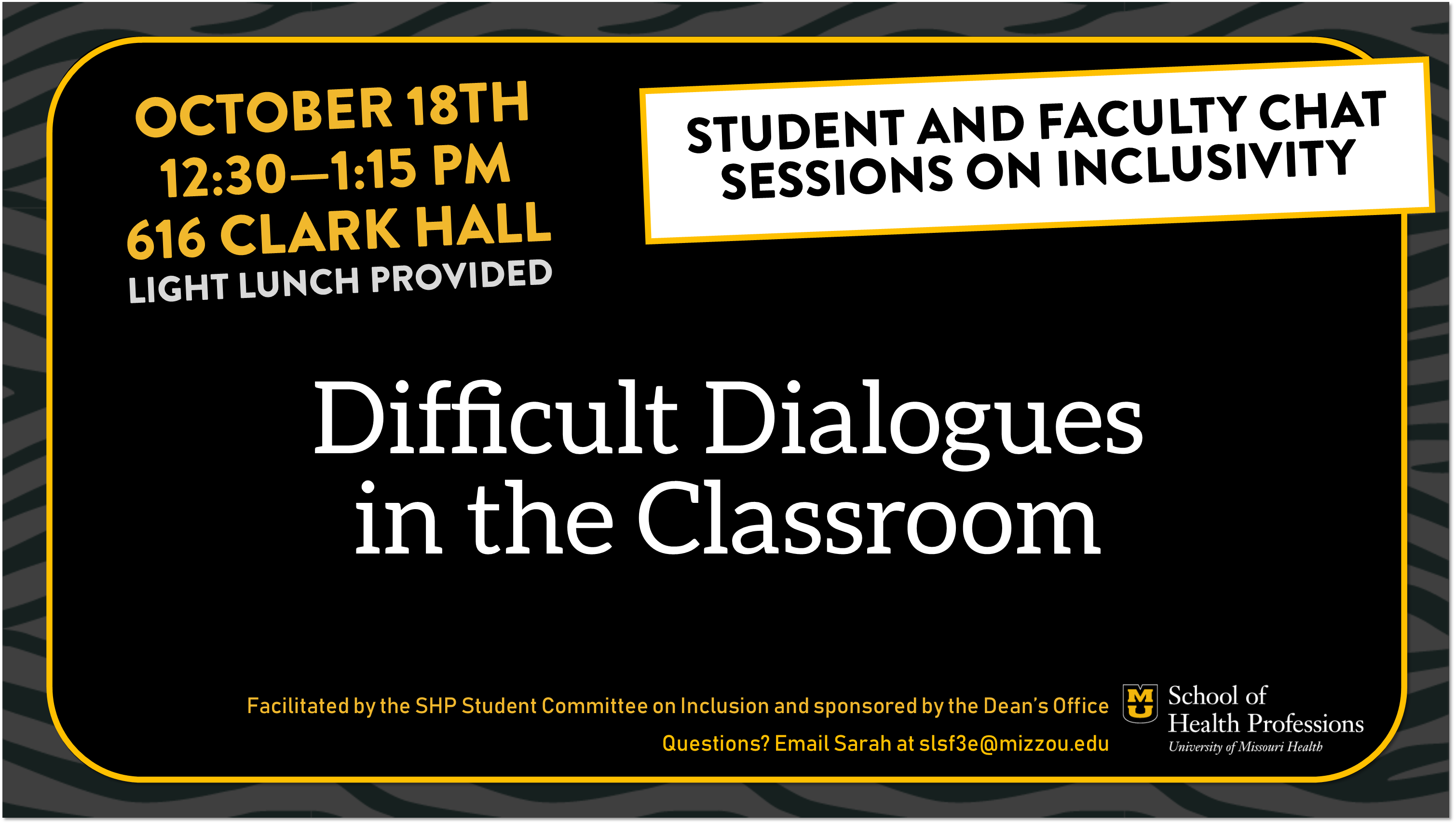 Student and Faculty Chat Session on Inclusivity