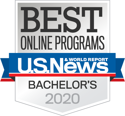 badge from US News and World Report Best Online programs