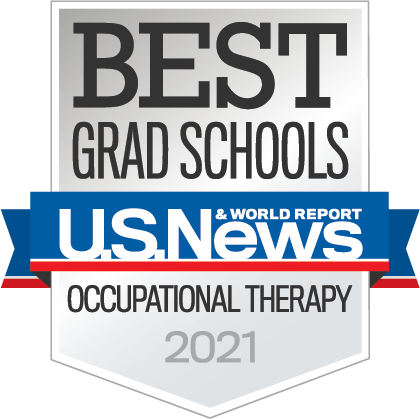 A badge that reads: Best Grad Schools U.S. News Occupational Therapy 2021