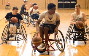 Campers participate in Mizzou's Wheelchair Basketball Camp