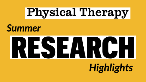 Physical Therapy Summer Research Highlights