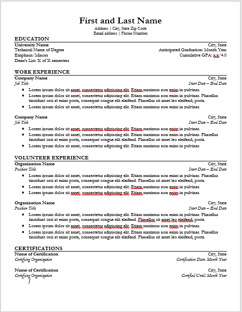 Resume Snip Less Space Career Services