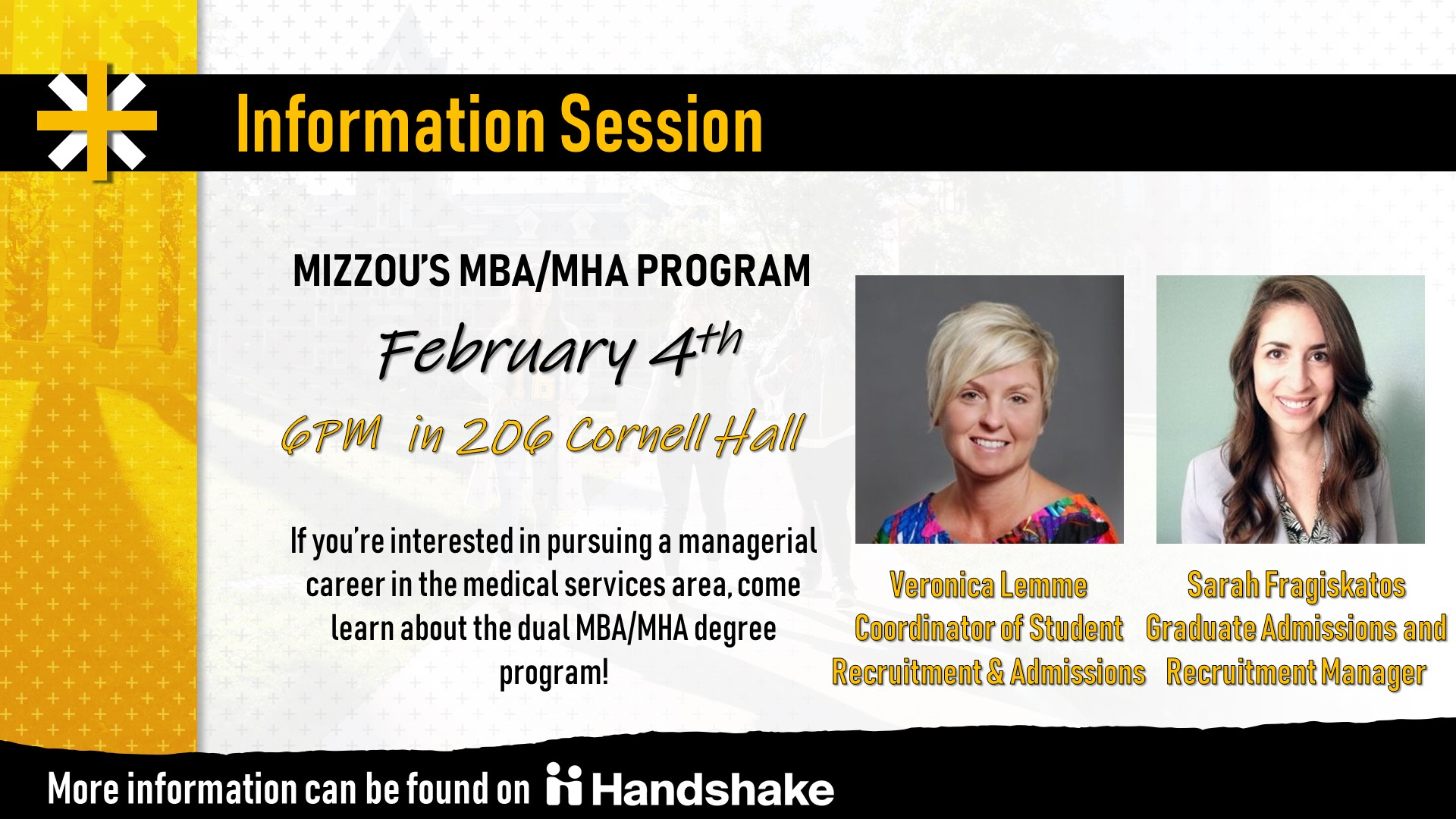Mba Mha Program Information Session Career Services