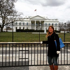 Marissa Thomas standing in front of the White House in Washington, D.C.