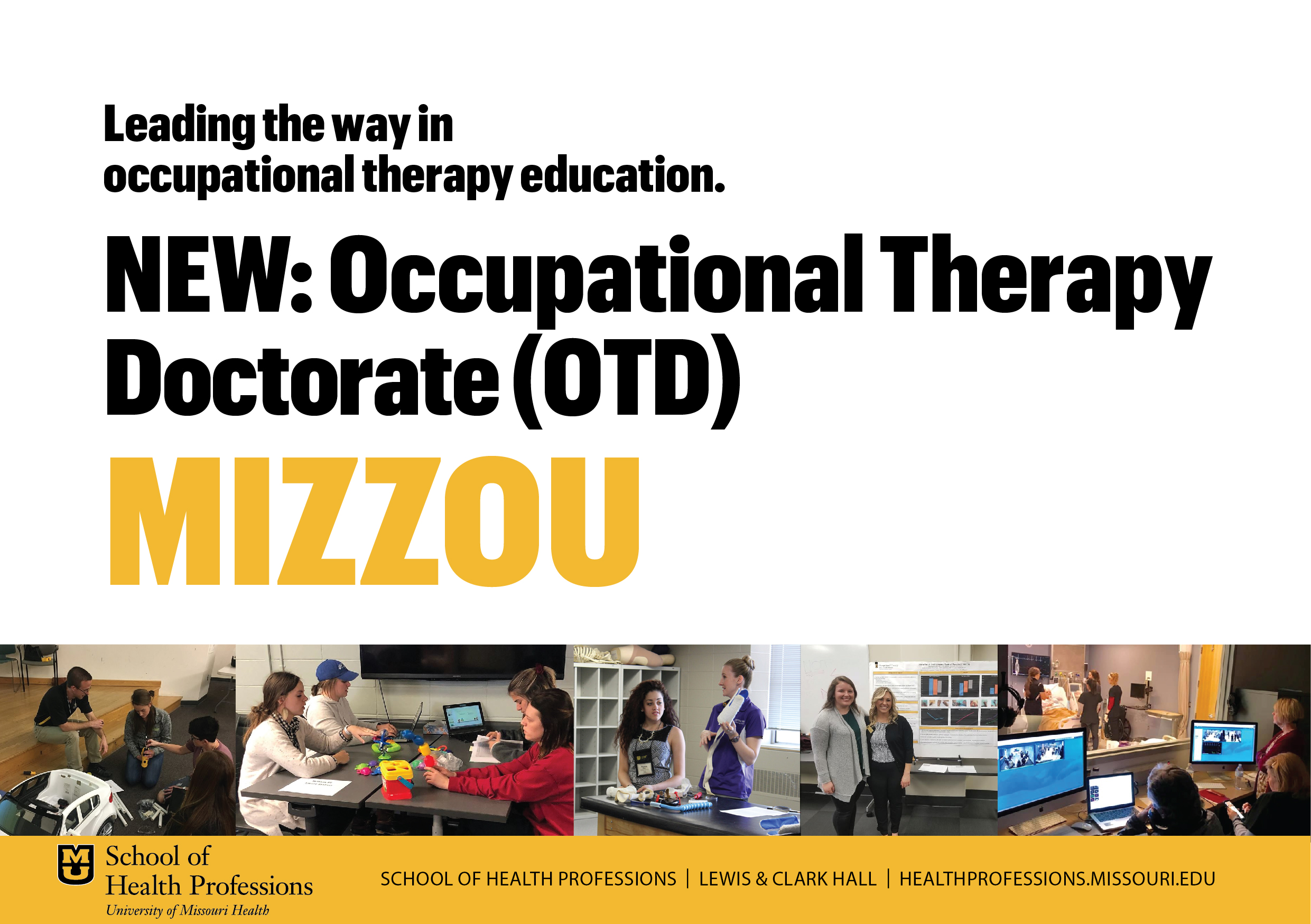 promotional image for occupational therapy doctorate program